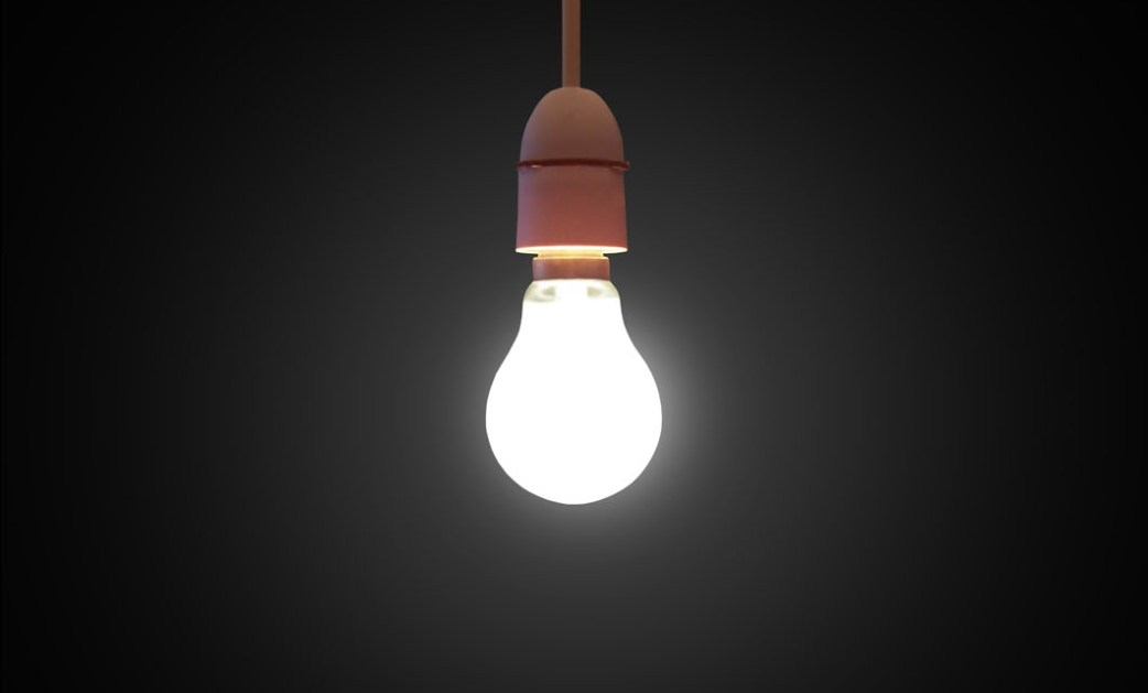 Light bulb which symbolizes artistic research.