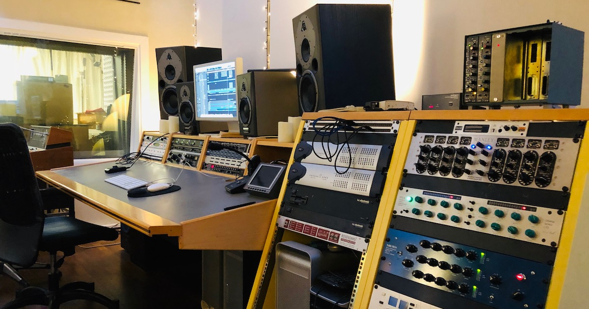 Mazza Mansion studio in Copenhagen run by Thor Madsen. Picture from the control room.