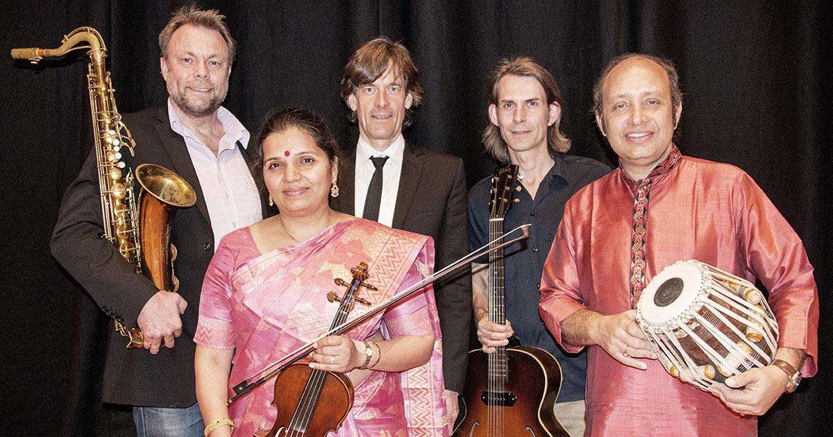RagaJazz combine Indian ragas and Scandinavian Jazz. Press photo by Sarit Dhabani.