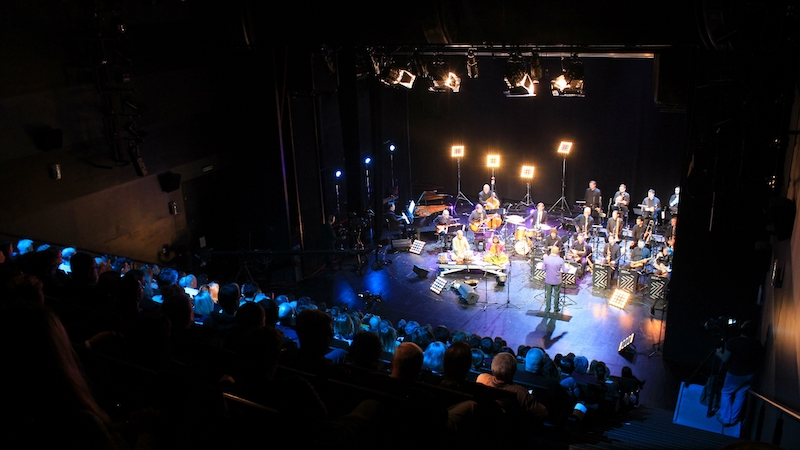 RagaJazz performing Lars Møller's Glow Of Benares with Croatian Radiotelevision Jazz Orchestra in 2017. Photo by Marija Stilinovic.